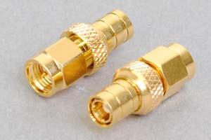 同軸コネクタ用変換アダプタ  SMAオス-SMBオス(インピーダンス50Ω)