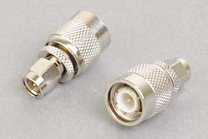 同軸コネクタ用変換アダプタ   SMAオス-TNCオス(インピーダンス50Ω)
