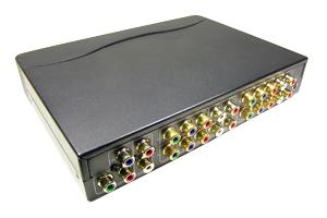 コンポーネント映像+オーディオ信号スプリッター(コンポーネント映像+アナログ音声信号分配器:1入力4分岐)