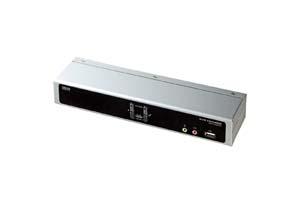 【サンワサプライ】 CPU自動切替器:KVMスイッチ、デュアルリンクDVI-Iモニター対応、1対2、USB&PS/2コンソール両用タイプ、箱型 【在庫限り販売中止】