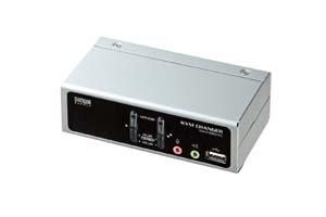 【サンワサプライ】 CPU自動切替器:KVMスイッチ、1対2、VGAモニター用、USB&PS/2コンソール両用タイプ、箱型 【在庫限り販売中止】