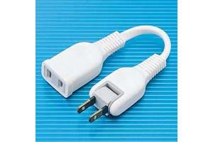 【サンワサプライ】 電源延長コード、2Pスイングプラグ、長さ0.1m、15A・125V(1500Wまで)