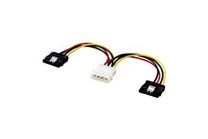 【サンワサプライ】 SATA電源ケーブル、4P電源-SATA15pinメス2分岐、ラッチ付き