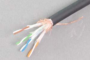 耐屈曲ロボット仕様 カテゴリ 5E  STP(シールド:FTP) より線 バルクケーブル(200M巻き)