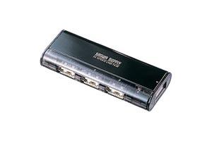 【サンワサプライ】 USB2.0ハブ、4ポート、マグネット付き、セルフ/バスパワー両用