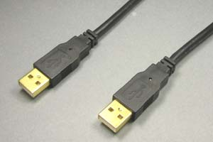 USB2.0ケーブル Aコネクタ オス-Aコネクタ オス(金メッキシェル) 【在庫限り販売中止】