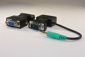 アナログRGB+音声伝送 省配線アダプタ