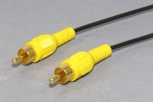 ビデオケーブル コンポジット端子 RCAオス-RCAオス (極細電線タイプ)