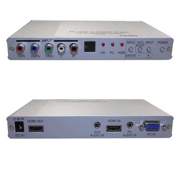 ビデオスケーラー(アナログRGB(VGA)信号/コンポーネント映像/HDMI(またはDVI-Dシングルリンク)信号/アナログ音声  ⇒ HDMI (またはDVI-Dシングルリンク)映像・音声信号 アップスキャンコンバータ(映像信号変換器)) 【在庫限り販売中止】 :【ケーブルダイレクト】