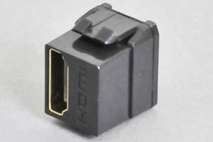 スナップイン中継コネクタ HDMI-Aコネクタ メス 全長短尺タイプ 黒色 【HDMI2.0対応】