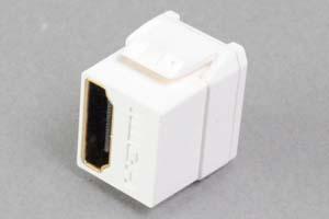 スナップイン中継コネクタ HDMI-Aコネクタ メス 全長短尺タイプ 白色 【HDMI2.0対応】