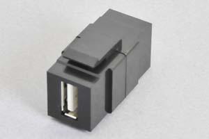 スナップイン中継コネクタ USBコネクタ(Aコネクタ メス 黒) (SIM-USBA-BK-Sの後継品)