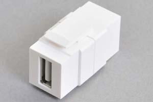 スナップイン中継コネクタ USBコネクタ(Aコネクタ メス 白) (SIM-USBA-WH-Sの後継品)