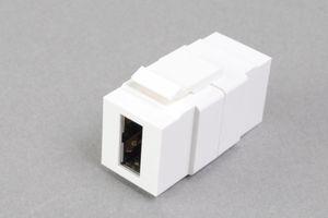 スナップイン中継コネクタ USBコネクタ Aコネクタ両挿しタイプ(前後側ともに両挿しAメス) 白