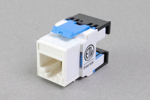 スナップイン中継コネクタ、10Gbps通信対応、RJ-45メス(水平方向圧接タイプ、LAN配線用、CAT6A対応)