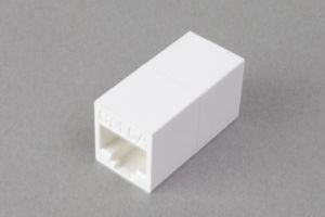 LANアダプタ、10Gbps通信対応、CAT6A ストレート結線 筒型
