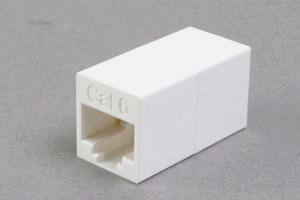 LANアダプタ CAT6 ストレート結線 筒型(AC6R-Sの後継品)