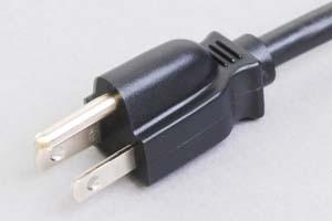 電源ケーブル(片側3Pプラグ/片側切り落とし)<12A-125V>