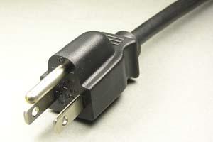 電源ケーブル(片側3Pプラグ/片側切り落とし)<7A-125V>