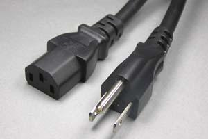 電源ケーブル(3Pプラグ/3Pソケット)<15A-125V>