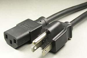 電源ケーブル(3Pプラグ/3Pソケット)<7A-125V>