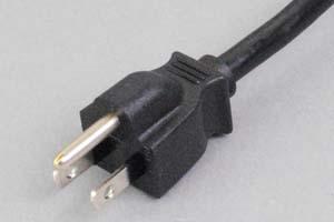 【耐トラッキング対策】 電源ケーブル(片側3Pプラグ/片側切り落とし)<12A-125V>