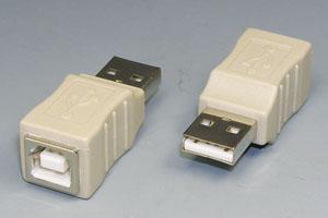 USB変換アダプタ Aオス-Bメス 【在庫限りで後継品へ切替予定】