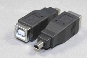 USB変換アダプタ Bメス-ミニ4pin オス 【在庫限り販売中止】