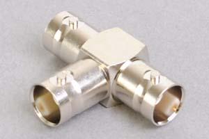 同軸コネクタ用分岐アダプタ  BNCメス×3のT型分岐(インピーダンス50Ω)