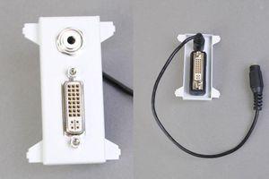 他社製フェースプレート対応型コンセントモジュール(DVI+ステレオ音声中継用、壁面埋込タイプ) 【在庫限り販売中止】