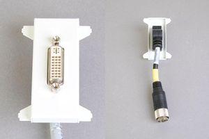 他社製フェースプレート対応型コンセントモジュール(DVI-D(シングルリンク)、接続ケーブル付き、壁面埋込タイプ) 【在庫限り販売中止】