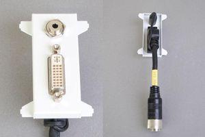 他社製フェースプレート対応型コンセントモジュール(DVI-D(シングルリンク)+ステレオ音声用、接続ケーブル付き、壁面埋込タイプ) 【在庫限り販売中止】