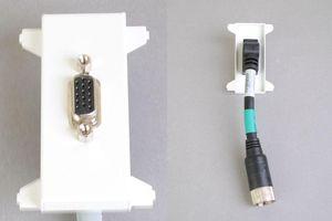 他社製フェースプレート対応型コンセントモジュール(VGA映像用、接続ケーブル付き、壁面埋込タイプ) 【在庫限り販売中止】