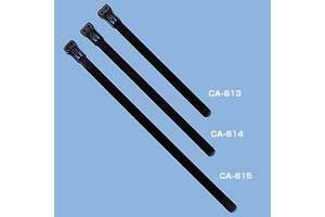 【サンワサプライ】 ケーブルタイ(黒色ワイドタイプ、幅広7.6mm×長さ125mm、10本入り)