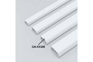 【サンワサプライ】 CA-KK26ケーブルカバー:角型モール(白色、長さ1000mm×幅26mm×高さ14mm、両面テープ付き)