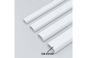 【サンワサプライ】 CA-KK33ケーブルカバー:角型モール(白色、長さ1000mm×幅33mm×高さ16mm、両面テープ付き)