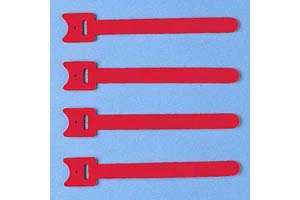 【サンワサプライ】 ケーブルタイ(マジックテープ型、長さ120mm、赤色、4本入り)