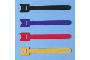 【サンワサプライ】 ケーブルタイ(マジックテープ型、長さ120mm、青・黒・赤・黄×各1本)