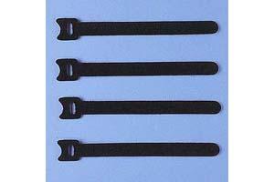 【サンワサプライ】 ケーブルタイ(マジックテープ型、長さ150mm、黒色、4本入り)