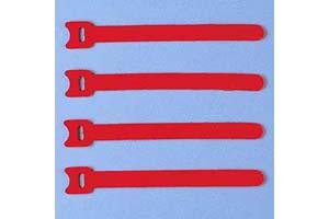 【サンワサプライ】 ケーブルタイ(マジックテープ型、長さ150mm、赤色、4本入り)
