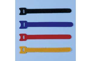 【サンワサプライ】 ケーブルタイ(マジックテープ型、長さ150mm、青・黒・赤・黄×各1本)