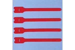 【サンワサプライ】 ケーブルタイ(マジックテープ型、長さ200mm、赤色、4本入り)