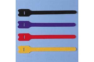 【サンワサプライ】 ケーブルタイ(マジックテープ型、長さ200mm、青・黒・赤・黄×各1本)