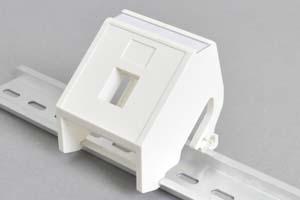 DINレール取付 スナップインコネクタ用ベゼル(スナップインコネクタまたはスナップインケーブル1個取付用)