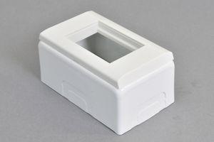 複合コンセント(45モジュール)用(横型、45モジュールおよび45ハーフモジュール用) 露出配線ボックス