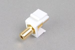 スナップイン中継コネクタ 3.5mmステレオミニジャック(メス)
