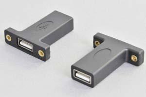 パネルマウント中継アダプタ 両側USB2.0-Aメス(PAUSB-AFAFの後継品)