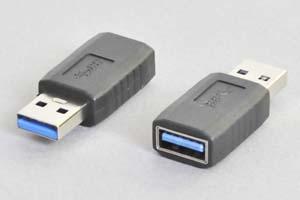 USB中継アダプタ USB3.0対応 TypeAメス-TypeAオス