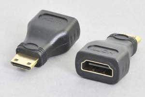 HDMI中継アダプタ タイプC(ミニHDMI)オス-タイプAメス