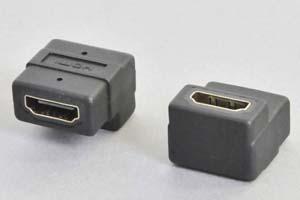 HDMI中継アダプタ タイプAメス-タイプAメス 垂直L型 【HDMI2.0対応】
